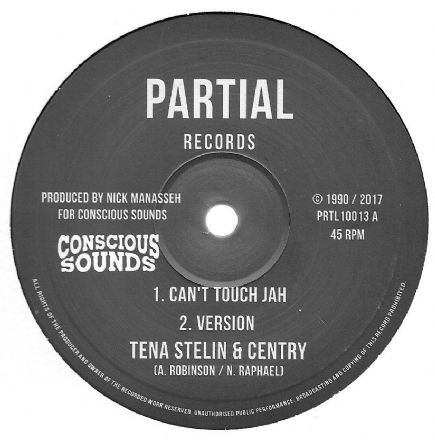 Tenastelin & Centry - Can't Touch Jah / version / version 2 / version 3 (Partial) 10""